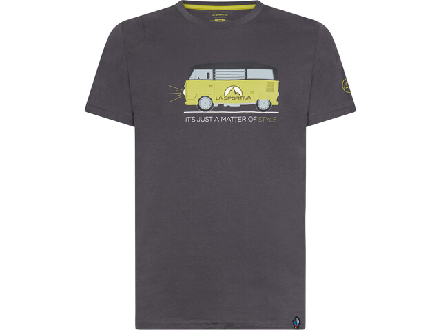 La Sportiva Van T-Shirt Heren, carbon/kiwi
